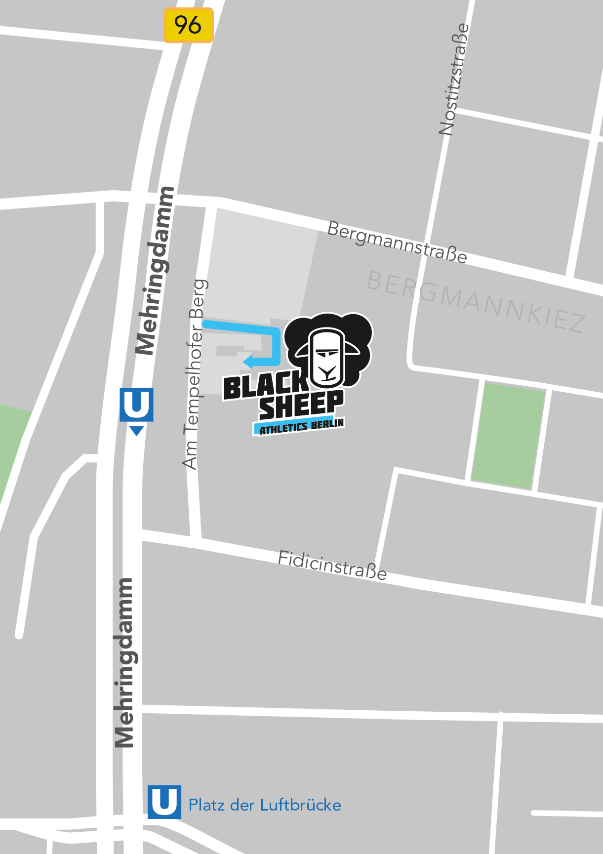 Black Sheep Athletics Map Anfahrt